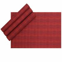 Placemats Set of 4 Heat Resistant PVC Place Mats Dining Table Mats Kitchen Home