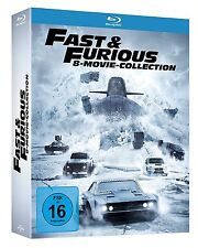 FAST AND & FURIOUS 1-8 STAFFEL 1 2 3 4 5 6 7 8 MOVIE COLLECTION BLU-RAY DEUTSCH