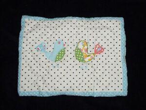 NEW Pottery Barn Kids Brooke Small Toddler Pillow Sham Dots Birds Green Stripe