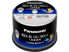 Made in Japan 50 Panasonic BD-R DL 4x Inkjet Printable Dual Layer Bluray Discs