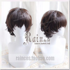 Dazai Osamu Short Brown Curly Wigs Anime Bungo Stray Dogs Cosplay Hair Wig