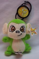 "McDonald's Neopets Bright Green Mynci Clip Keychain 4"" Plush Stuffed Animal"