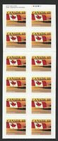 Canada Scott 1389a: 43c Quick Stick Booklet Pane of 12 self-adhesives, VF-NH
