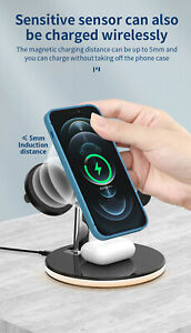 3In1 15W  Wireless Charger Fast Charging Dock For Apple Watch Air Pods iPhone