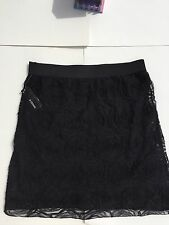 B DESIGN NWT Black Rose Skirt sz Large $44