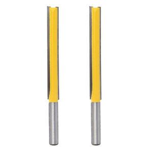 2 Stück Fräser Nutfräser Holzfräser Abrundfräser /&8mm Schaft,Langer Schnittlänge