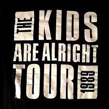 1989 THE WHO VINTAGE T-SHIRT KIDS ARE ALRIGHT TOUR RFK STADIUM PETE TOWNSHEND
