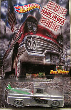 """Hot Wheels CUSTOM '62 CHEVY """"Made in USA"""" Real Riders LTD 1/25 Made!"""