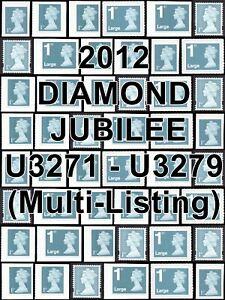2012 Diamond Jubilee SG U3271-9 1st Class (MULTIPLE LISTING) Unmounted Mint