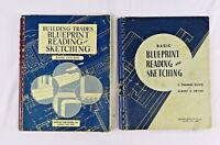 Vintage 1952  Blueprint Reading & Sketching Basic Course Books Delmar lot