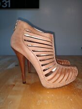 Women's BCBGeneration leather High Heel Shoes cutout booties Size 7B
