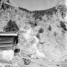SUISSE c. 1948 - Chalets Saas Almagell- Négatif 6 x 6 - Sui 239