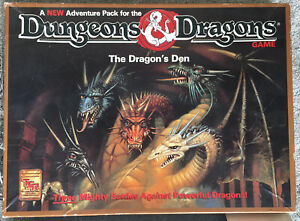 DUNGEONS & DRAGONS - THE DRAGON'S DEN - Board Game Expansion 1992 TSR 1073 VG+