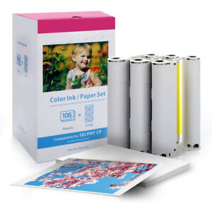 Canon KP-108IN Ink and 108 Photo Paper for Selphy CP1000 CP1200 CP1300 CP730