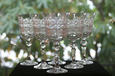 Bohemia Crystal Co, Cut Crystal Water/Wine Glasses (6)