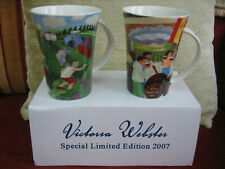 PAIR OF VICTORIA WEBSTER SPECIAL LIMITED EDITION MUGS - NEW & BOXED.
