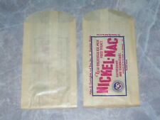 Nickel Nac Vintage 1940s Dairy Ice Milk Cream Bar Treat Glassine Bag Lot of 2