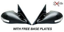 BMW 3 SERIES E46 2 DOOR BLACK M3 MANUAL MIRRORS & LED INDICATORS INC BASE PLATES
