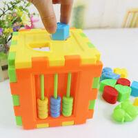 Baby Educational Toy Bricks Matching Blocks Intelligence Sorting Box FO