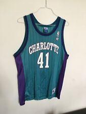 Charlotte Hornets Vintage Glen Rice Jersey Champion 44 Pinstripe