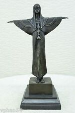 Original Egyptian, the Nile Princess Bronze Sculpture Signed Art Deco Decor 122