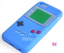 iPhone 5C - SOFT SILICONE RUBBER SKIN CASE COVER DARK BLUE GBA GAMEBOY PLAYER