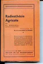 RADIESTHESIE AGRICOLE - F. Orcel - 1939 - Afrique noire