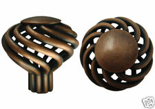 "Antique Copper  Birdcage Kitchen Bathroom Cabinet Knob 1 5/8"" (40MM)"
