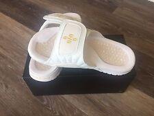 Nike Jordan Hydro XII 12 Retro OVO Drake White Gold Men Slide Sandal 873907-102
