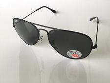 Ray-Ban RB3025 002/58 Polarized Aviator Classic Black Sunglasses 58mm