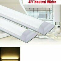 2x 4FT LED Tube Light Shop Light Workbench Garage Lamp Ceiling Panel Fixture