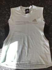 adidas womens singlet climalite sleeveless size 8 sea foam green and black