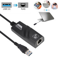 3 Port USB 3.0 Hub 10/100/1000Mbps Gigabit Ethernet Lan RJ45 Network Adapter