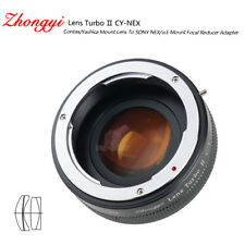 Lens Turbo II adapter for Contax Yashica mount lens to Sony E-mount NEX α6500