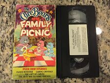 THE CARE BEARS FAMILY PICNIC RARE OOP VHS 1987 FRIES HOME VIDEO CARTOON CLASSIC!