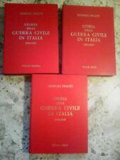BELLA OPERA :' STORIA DELLA GUERRA CIVILE IN ITALIA ' (G. PISANO',3 VOL. CPL !!)