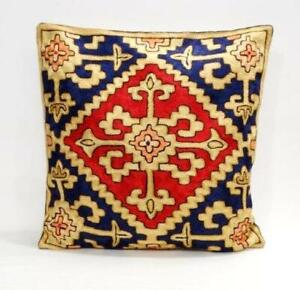 Chain Stitched Hand Crafted Embroidered Cushion Cover from Kashmir India
