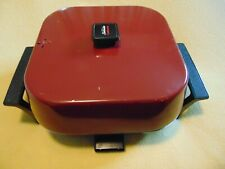 "VTG SUNBEAM COOKMASTER RED ELECTRIC FRY PAN 12"" HIGH DOME SKILLET 425A series A"