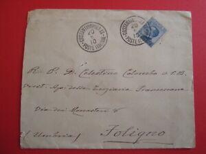 1910 REGNO busta + annullo COSTANTINOPOLI II - POSTE ITALIANE x FOLIGNO