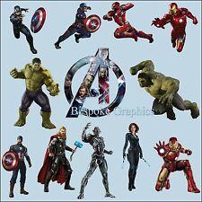 Marvel Avengers Bedroom Colour Vinyl Wall Art Sticker Buy Individual or Full set