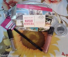 4-PC Bare Minerals Set- HIGH SHINE EYECOLOR, EYELINER,& LIPGLOSS+BAG-HTF-NEW