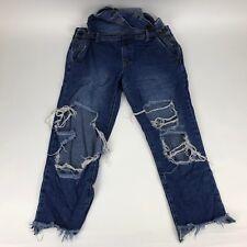 Forever21 Destroyed Blue Denim Overalls Womens Size 27