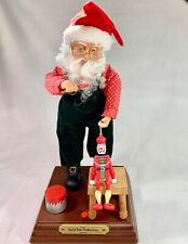 Vintage SANTA Toy Painter Animated with Carol Music North Pole Productions WORKS