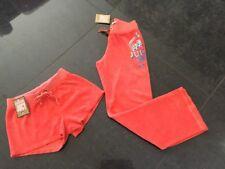 NWT Juicy Couture New & Gen. Peach Cotton Shorts & Pants Set Girls Age 8 & Logo