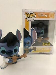 Funko Pop ELVIS STITCH #127 Hot Topic Exclusive +With Protector!