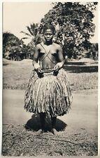 Congo YOUNG UBANGI WOMAN / JUNGE FRAU * Vintage 30s Ethnic Nude Photo PC