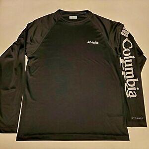 Columbia PFG Terminal Tackle Fishing Omni-Shade Long Sleeve Shirt Mens Small