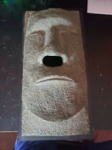 Tiki Man's Face TISSUE BOX COVER Faux Stone Dispenser by Rotary Hero.