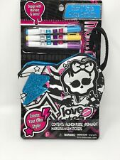 Monster High 16 Piece Color N' Style Purse Activity Kit Nip
