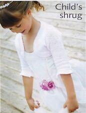 """CHILDS SHRUG/BOLERO~ KNITTING  PATTERN~SIZE 24 X 28""""  (DK 4)"""